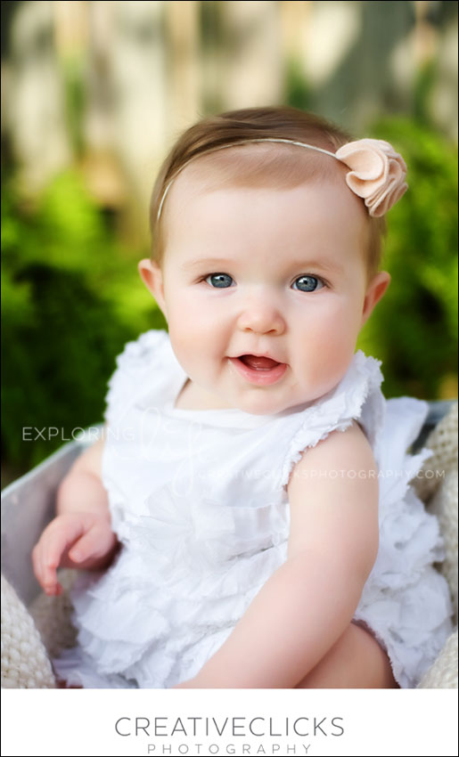 beautiful baby girl in garden