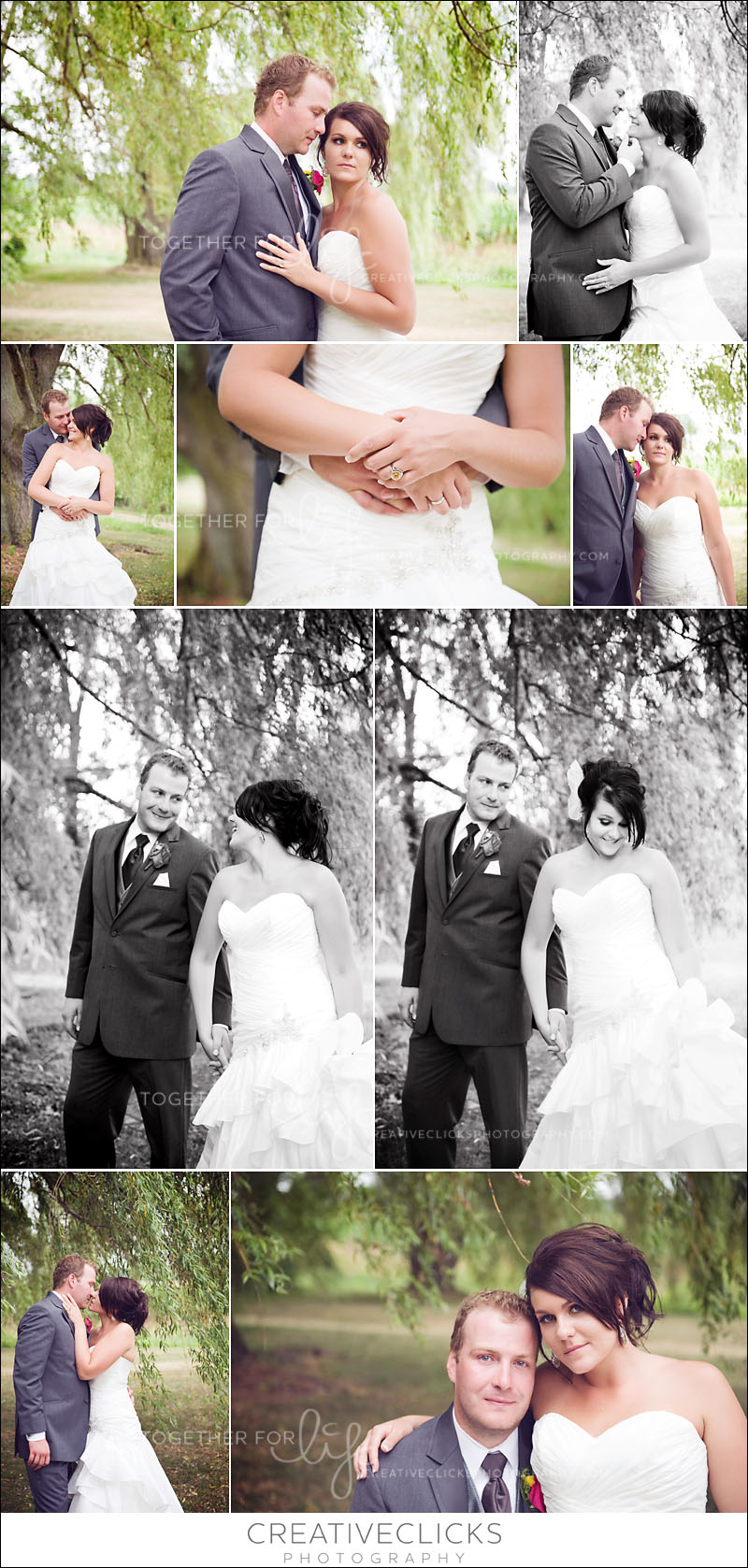Gorgeous bride and groom outdoor portraits