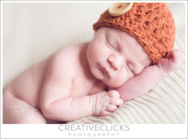 Baby Boy Fall Button Hat