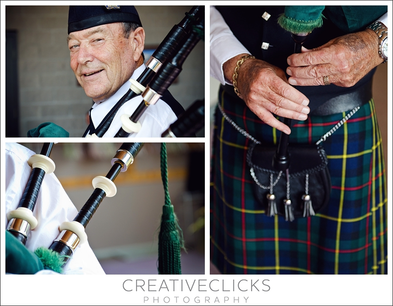 Bagpiper on Wedding Day