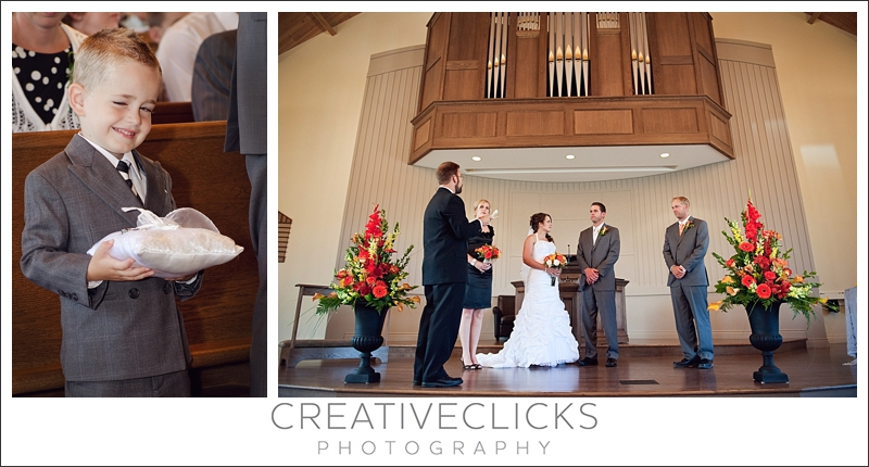 Wedding Ceremony and ring bearer