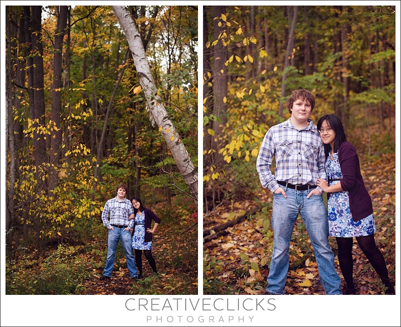Couple Standing in Fall Color