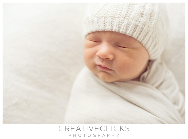 Sweet Sleeping Newborn Baby Wrapped Up