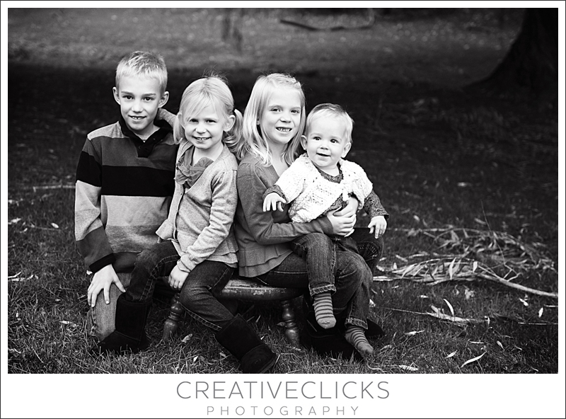 Black and White Children Photography