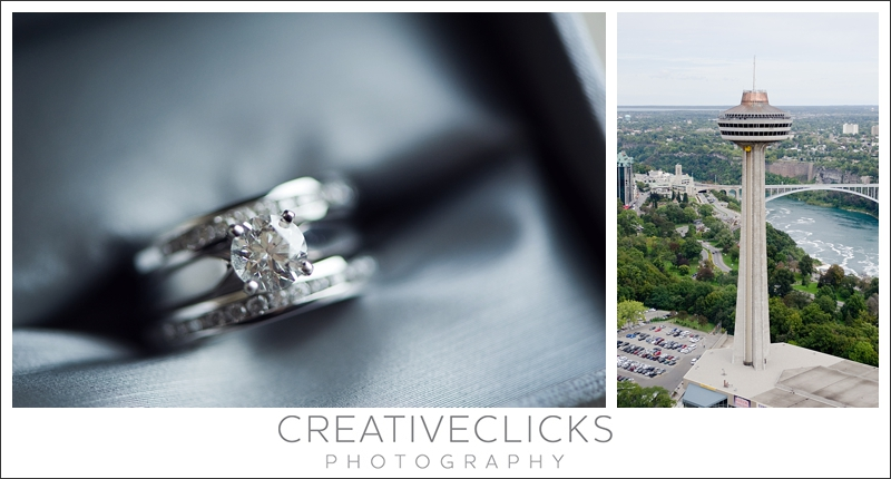 Wedding Rings and View of the Falls
