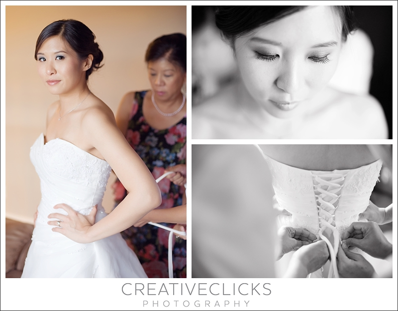 Bride getting ready for her day