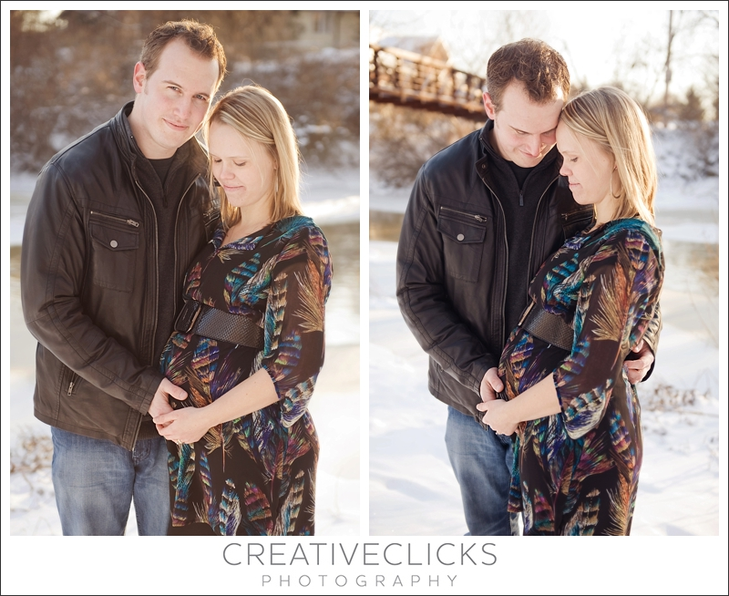 Couple Maternity Images Outside