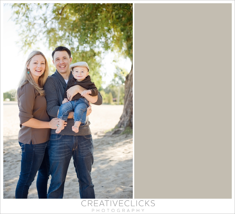 Beach family one year old session