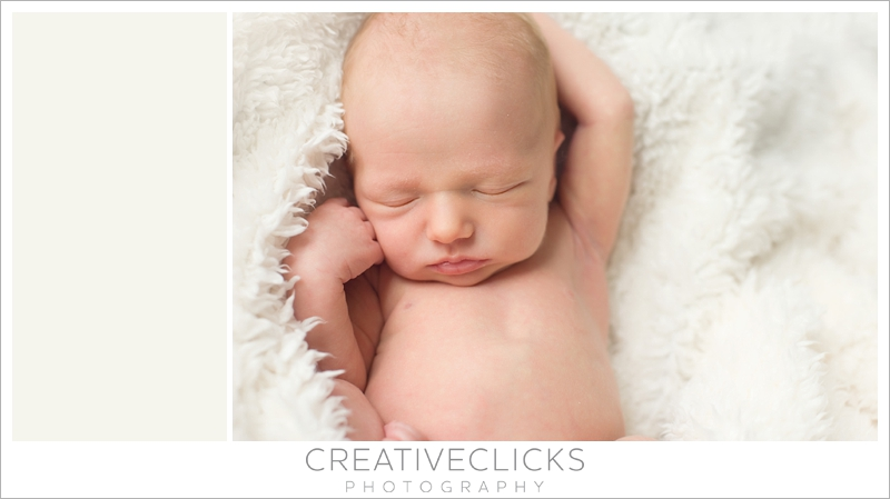 Organic newborn photography baby sleeping on cream