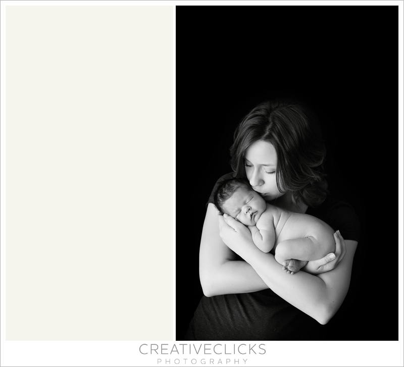 Mommy and baby newborn session