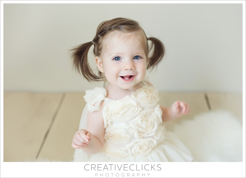 One Year Old Natural Light Studio Session