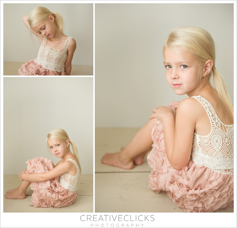 five year old girl wearing crochet and flower dress