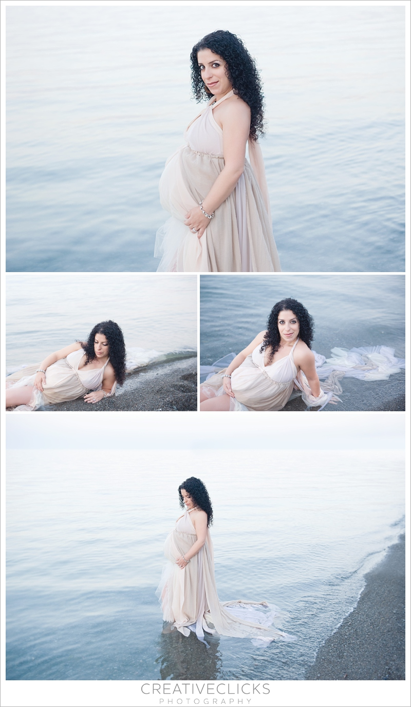 Beautiful Outdoor Beach Maternity Session in Water
