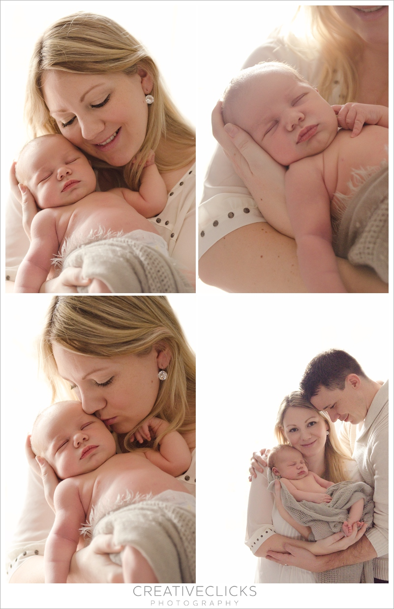 Beautiful mommy and baby newborn portraits