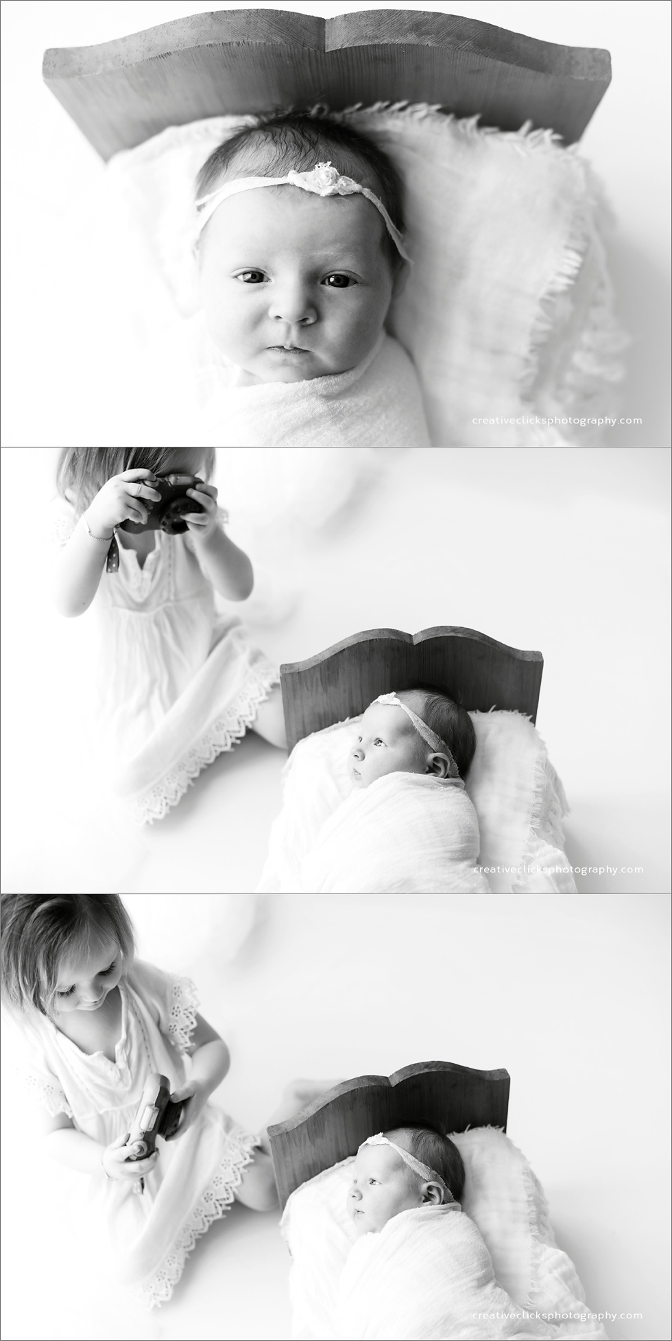 baby and big sister photography session