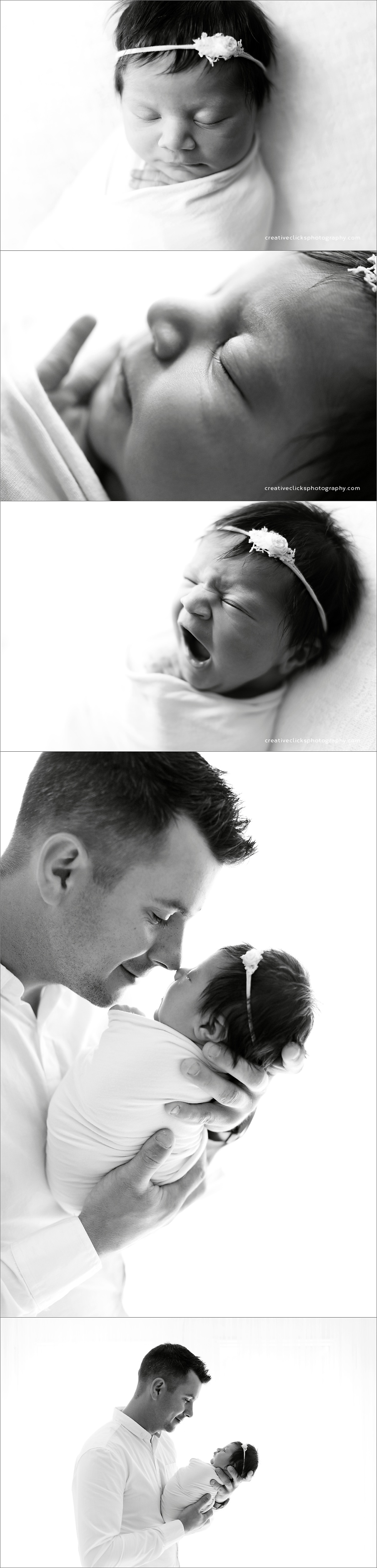 black and white newborn images