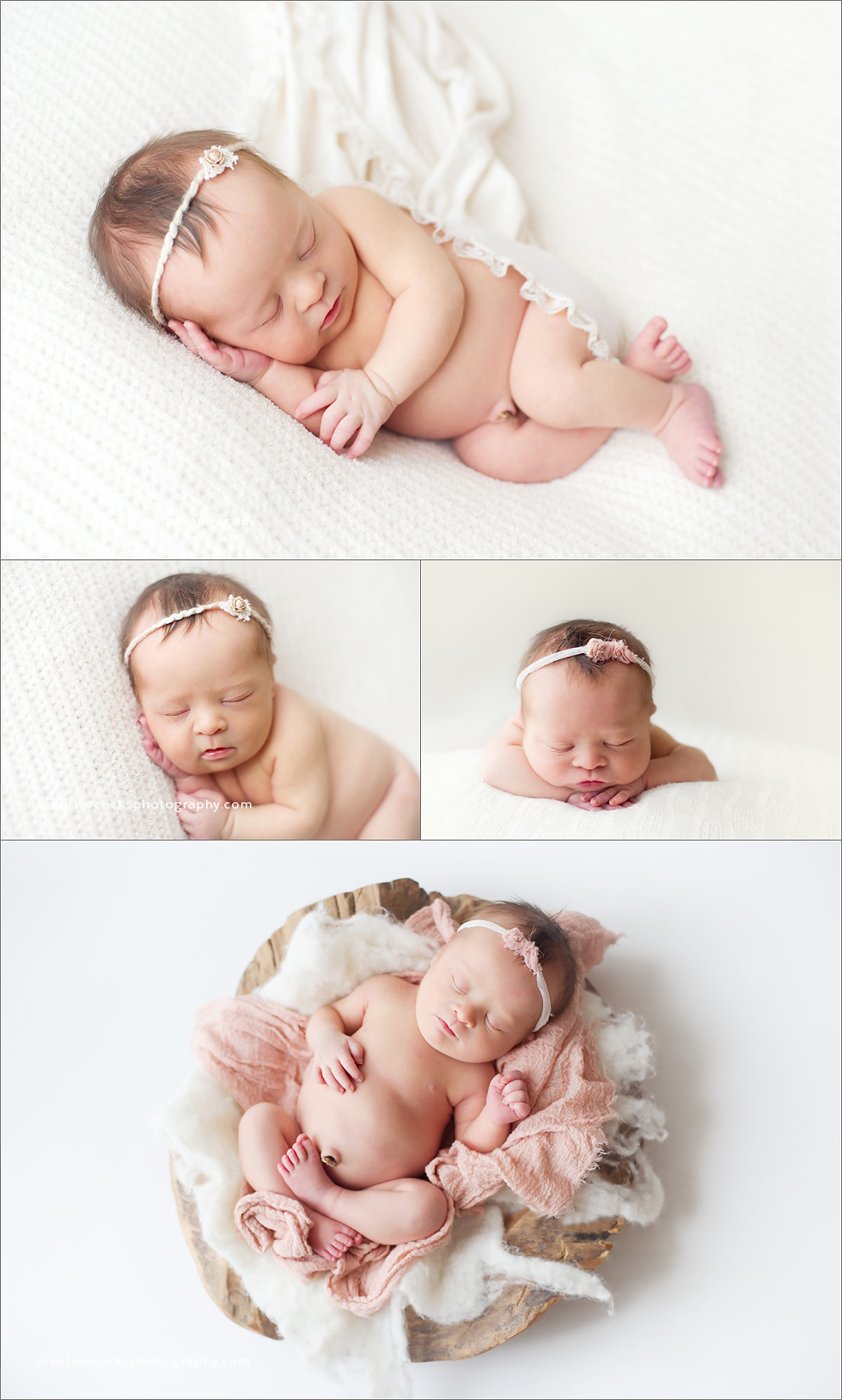 natural organic newborn baby photography