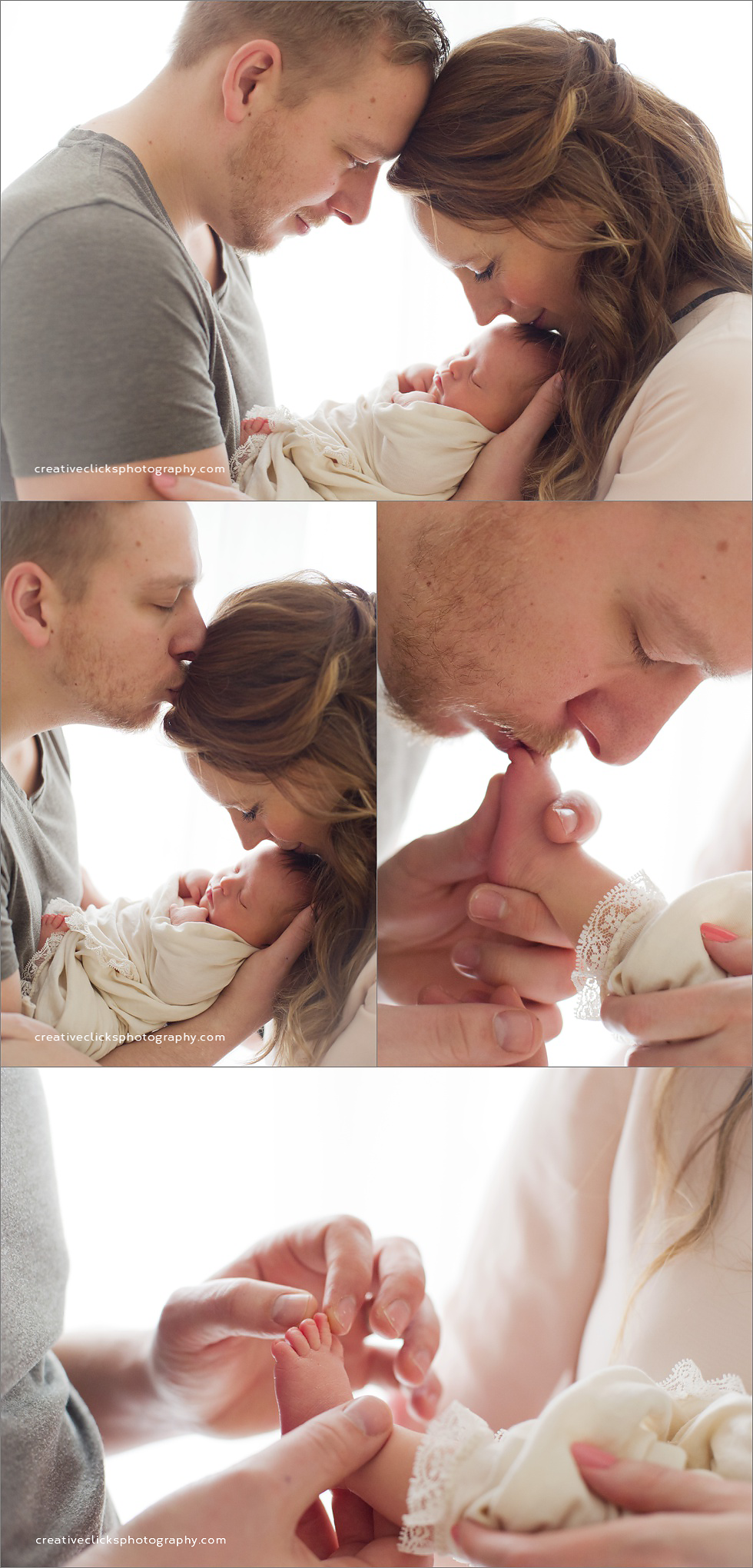 newborn baby surrounded with loving parents