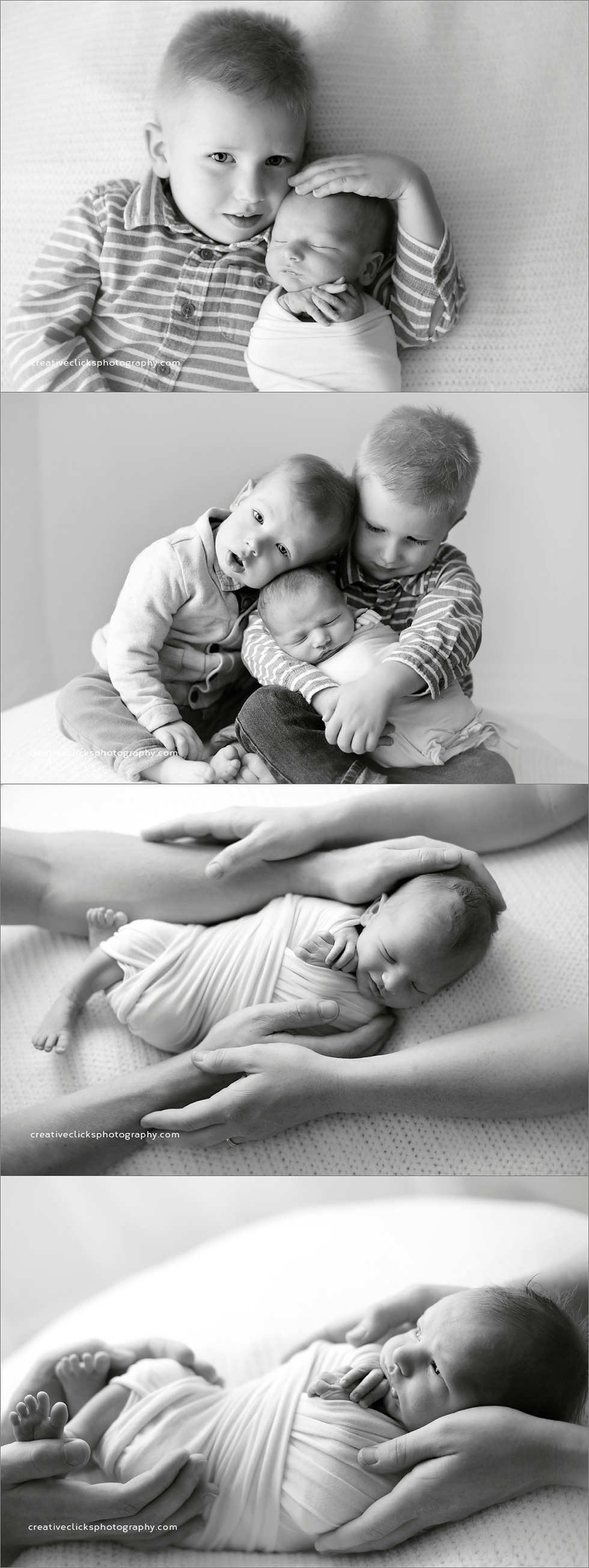 newborn baby and sibling photograph