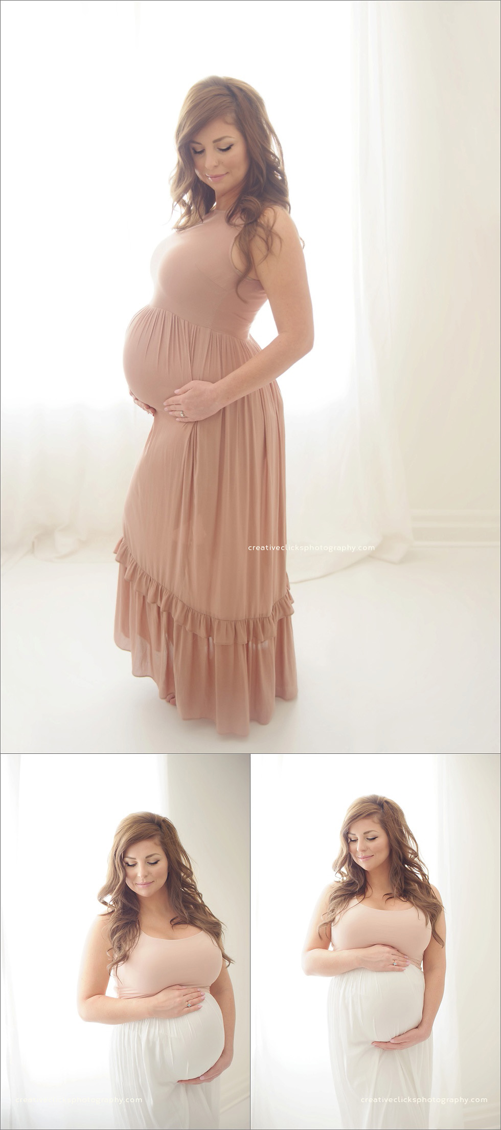 maternity session in Niagara, ON studio