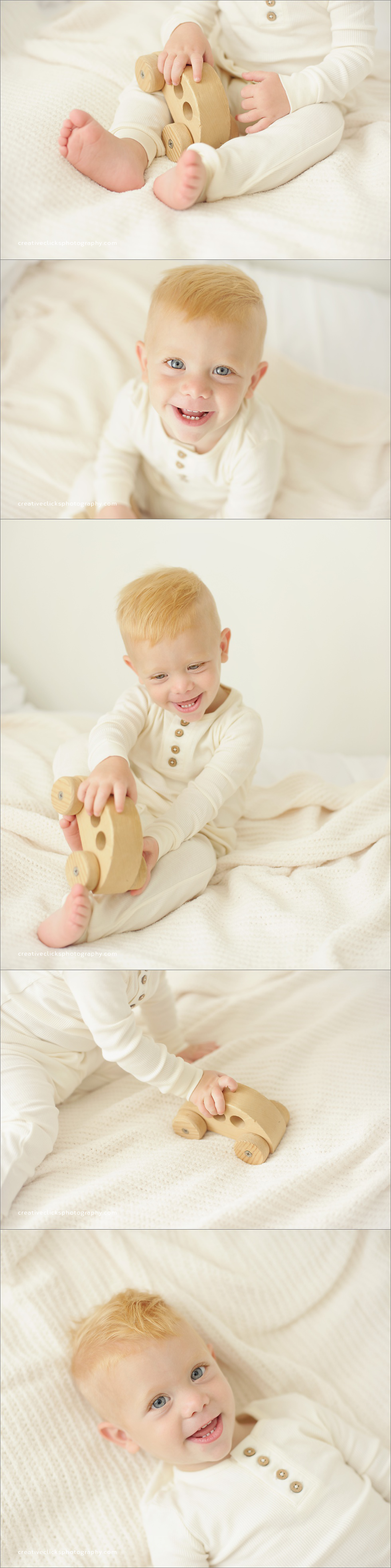 eighteen month old organic baby session