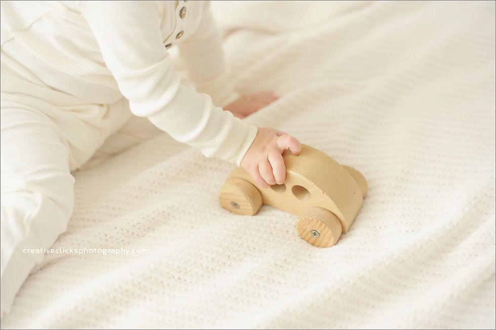 vintage wooden toys baby session