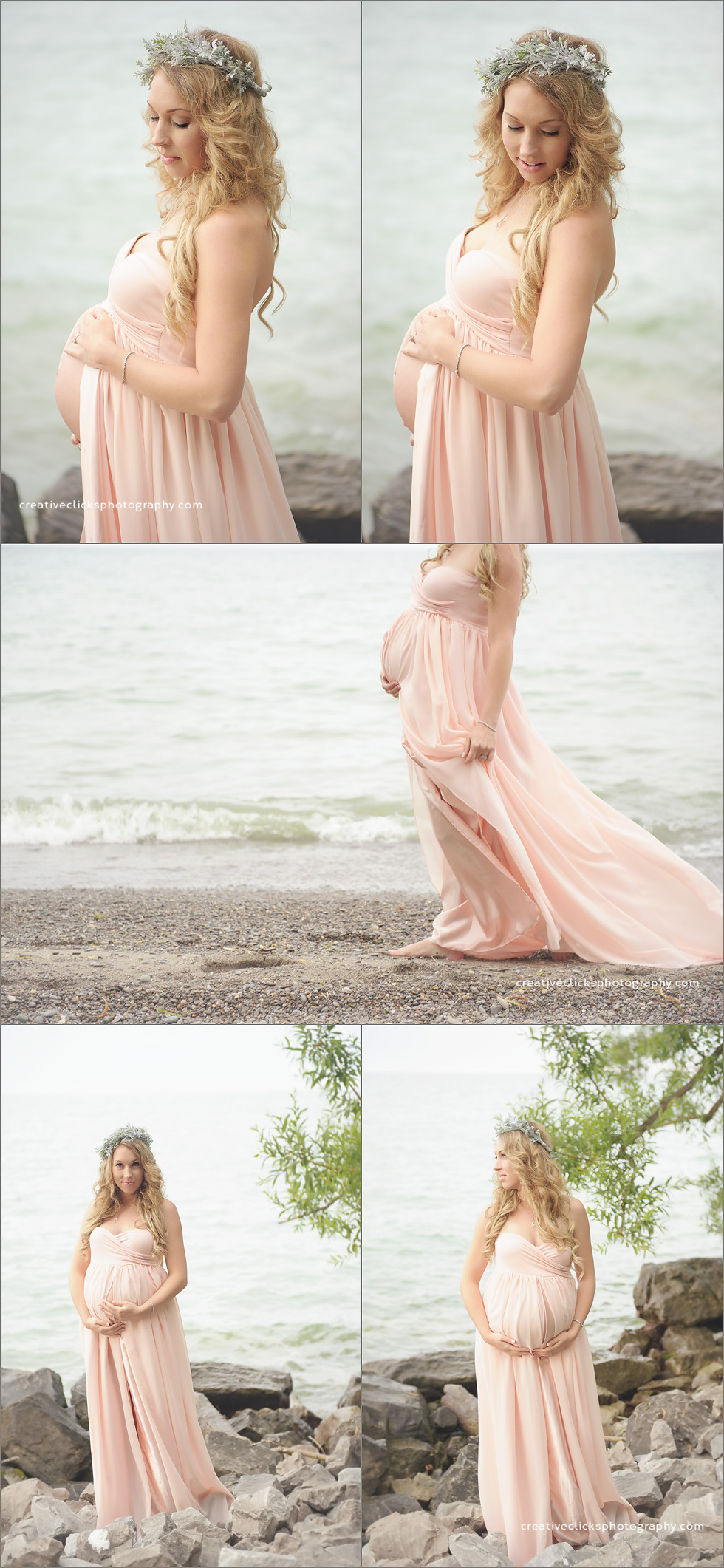 niagara maternity session on the beach