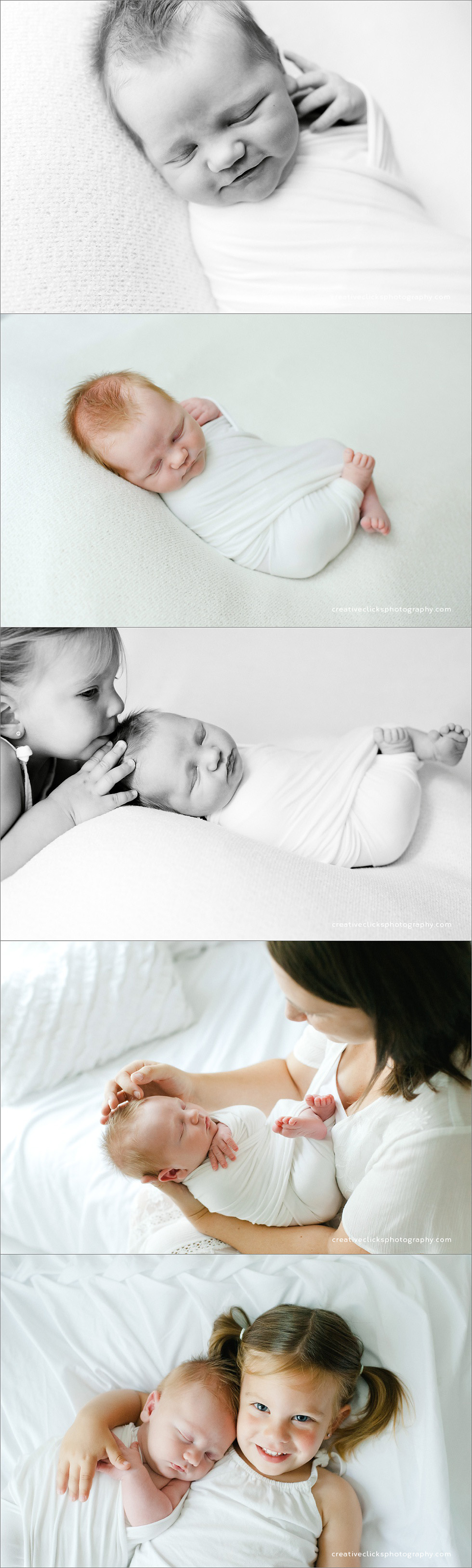 newborn baby and sibling pictures