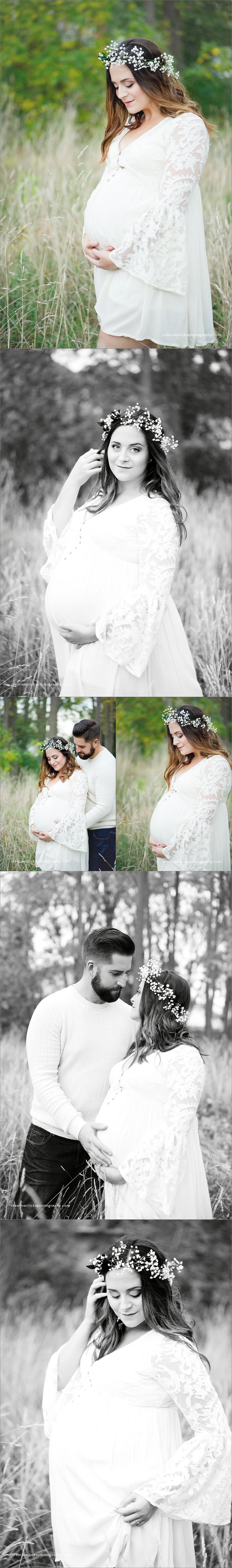 beautifully styled organic maternity session