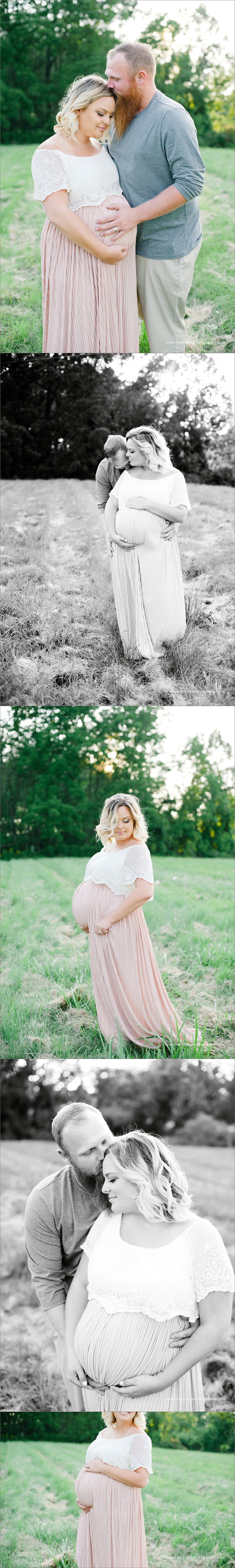 maternity session in the field in Niagara, ON